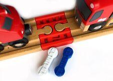 TrainLab Wooden Railway Female-Female Train Track Connector & NiteBrite Dog Bone