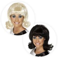 Ladies Flick up Wig Swinging 60s 70s Mod Girl Retro Fancy Dress Hair Hairspray