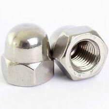 A2 304 Stainless Steel Dome Acorn Cap Nuts Fine Thread - M8 M10 M12 M14 M16 M20