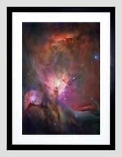 Télescope spatial hubble nébuleuse d'orion noir encadré art imprimé B12X2414