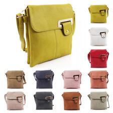 New Womens 2 Compartments Faux Leather Shoulder Bag Crossbody Messenger Handbag