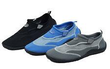 Men's Water Shoes Aqua Socks Pool Beach Surf Slip on Hook & Loop Yoga Exercise