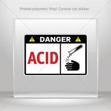 Decals Decal Danger Acid Atv Bike Garage bike polymeric vinyl st5 X4252