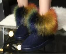 botas zapatos de tacón mujer 2 azul colorido como piel cómodo 8195