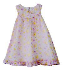 Vestido de verano Nueva Moda Flor De Satén Niños Niñas Chiffón 2-7ys