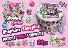 Edible Icing SHOPKINS or SHOPPIES Cake Topper Decorations Sets PRECUT EASY PEEL