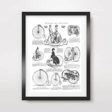Antiguo Cuadro De Bicicleta Bici Impresión de Arte Decoración De Pared Póster Vintage Ilustración dibujos