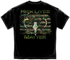 Hick Life American Flag Hunting Gun Redneck Camo Mens T Shirt S M L XL XXL XXXL