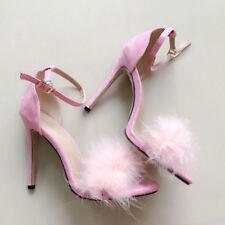 Womens Ladies Platform High Heel Stiletto Sandals Sexy Party Prom Shoes Plush