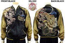 Sukajan Monkey King Sakura Japan Satin Embroidery Souvenir Jacket Hanatabi F/S