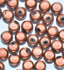 Acrylique miracle perles, rond, marron, options de taille 4, 6, 8, 10, 12 mm *