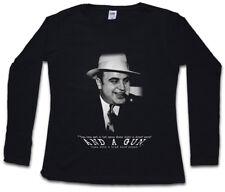 AL CAPONE CLASSIC PORTRAIT DAMEN LANGARM T-SHIRT Mafia Mob Chicago Gangster USA