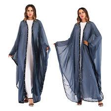 Dubai Women Muslim Open Cardigan Batwing Sleeve Loose Robe Abaya Kaftan Robe Lot