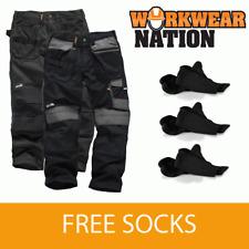 Scruffs 3d Pantalones Trabajo carodura Cartuchera Rodilleras negro libre Socks