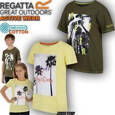 Regatta Camiseta infantil Bosley camping aire libre Viaje Verano DEPORTE RUNNING