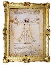 Wandbild Bild von Leonardo da Vinci Vitruvian Man Vitruvianischer Mensch 90x70