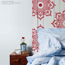 Eva Mandala Indian Wall STENCIL Furniture Fabric Craft The Stencil Studio