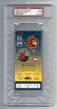 PSA 10 1996 PATRICK ROY UNUSED TICKET for the Canadiens at the Senators