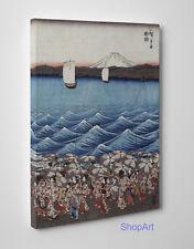 Quadro Hiroshige Festa di Apertura del Santuario Stampa su Tela Effetto Dipinto