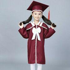 Child Kids Baccalaureate Gown Graduation Academic Dress Hat Cap Student Costume