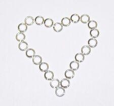 Sterling 925 in argento, pesante, aprire gli anelli di salto 3,4,5,6,7,8,9,10mm, conclusioni.