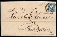 AUSTRIA / OSTERREICH 1859 - 15k. n. 16 SPL x BRESCIA, TASSATA 8