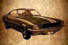 VLIES Fototapete-OLDTIMER-(3993V)-Vintage Mustang Retro Auto Wanddeko Garage XXL