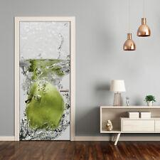 Türtapete Selbstklebend Türposter Türaufkleber Lebensmittel  Apfel unter Wasser
