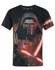 T-shirt en polyester noir Star Wars Lightsabre Sublimation Boy taille UK 3-4 ans