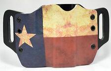 Texas Flag OWB Kydex Holster For HK, Kel-Tec, Kahr, Kimber