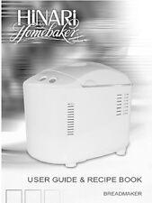 Hinari Bread Machine Manual Hb100, Hb151, Hb152, Hb154, Hb161