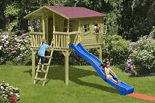 Kinderspielhaus CRAZY Leon Spielhaus Stelzenhaus Spielturm Rutsche Holz Garten