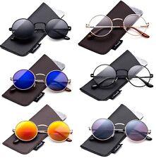 fa642b3d20 John Lennon Glasses Spring Hinge Circle Round Vintage Hippie Retro  Sunglasses