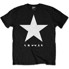 David Bowie 'Blackstar (Blanco Estrellas En Negro)' T-Shirt-Nuevo Y Oficial!