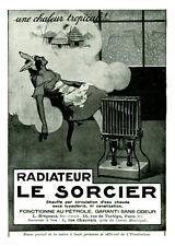 """Publicité Ancienne """" Radiateur le Sorcier 1929 """" ( P.18 )"""