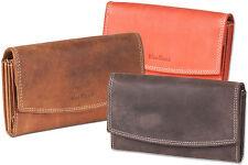 Woodland® Damen Geldbörse im Querformat aus feinem Leder - verschiedene Farben