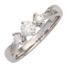 Ladies Ring 3 Diamonds Brilliants 0,50 ct 585 Gold White Gold dreistein-ring