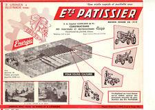 Prospectus  ENERGIC   Patissier   Motoculteur  Usine  Tracteur tractor prospekt