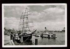GERMANY 1952 PPC HAMBURG SHIPS REAL PHOTO CARD