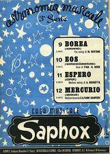 Astronomia Musicale # BOREA - EOS - ESPERO - MERCURIO # Saphox 1951