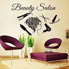 Hair Wall Decal Beauty Salon Stickers Decals Vinyl Hair Girl Woman Decor MN28