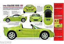 1999 Lotus Elise 111S (111-S) Spec Sheet / Brochure