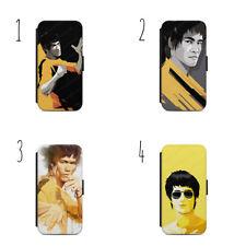 Bruce Lee giallo Suit Wallet Flip Custodia Cover IPhone Samsung