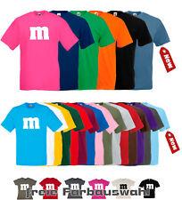 M&M T-Shirt Fans Karneval Fasching Darts Gruppenkostüm Shirt Damen Herren bis3XL