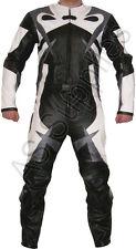"""""""peligro"""" nuevo 2 Piezas de Cuero Biker Moto Suit-Diseño Llamativo-todos Los Tamaños!"""