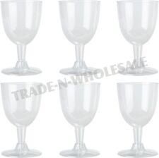 BICCHIERI da vino usa e getta, plastica, party, cocktail, matrimonio calice, vetro, Tazze