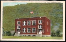 LONGACRE WV Oakland Graded School Vintage Postcard