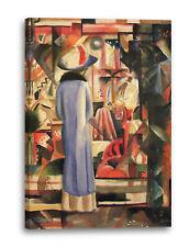 Lein-Wand-Bild Kunstdruck: August Macke Großes helles Schaufenster 1912