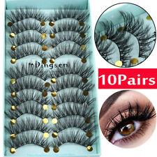DINGSEN 10 Pairs 3D False Eyelashes Wispy Fluffy Natural Long Lashes Handmade_an