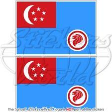 SINGAPUR Luftwaffe RSAF 90-present Flagge Fahne 100mm Vinyl Sticker Aufkleber x2